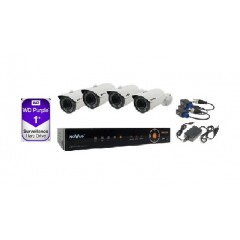 Kit supraveghere video exterior-4 camere AHD 2mpx